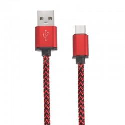 Câble en Nylon Tressé Type-C USB transfert et charge rapide 2.1A