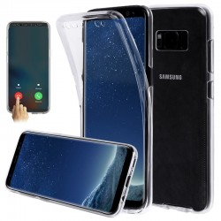 Etui silicone transparent intégral pour Samsung Galaxy Note 8