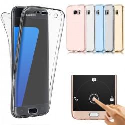 Housse silicone intégral transparente pour Samsung Galaxy A3/A5/A7 Version 2017