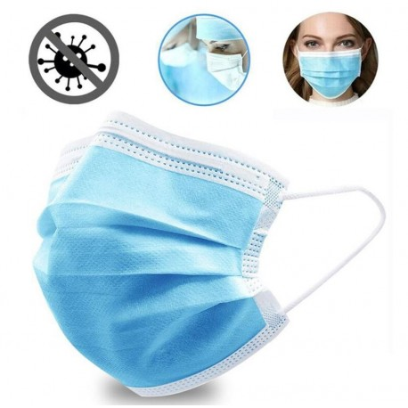 lot 50 masques de protection coronavirus pas cher