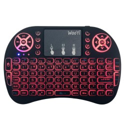7 color backlit i8 Mini wireless keyboard 2.4ghz Russian English 3 color Air mouse with touchpad remote control Androi