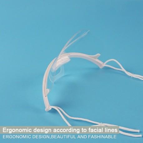 x10 Transparent Masks Plastic Anti-Virus Restaurant Dust