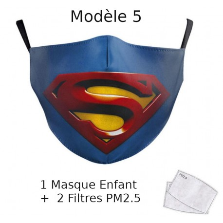 Lot de 10 Masques lavables avec compartiment filtre PM2.5