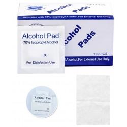 Lot de 100 Lingettes Désinfectantes Jetables avec 75% d'alcool