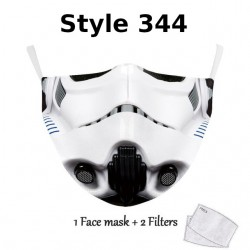 NADANBAO adulte enfant Star War Cosplay impression masque facial adulte enfant lavable masques tissu réutilisable PM2.5 filtres