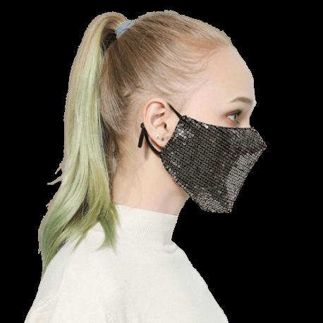 Mode Bling Bling paillettes masque facial fête Shinee kpop anti-poussière masque facial lavable réutilisation élastique contour