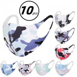 10 pièces masque de mode Camouflage coton masque visage bouche masques couverture réutilisable lavable Mascarilla