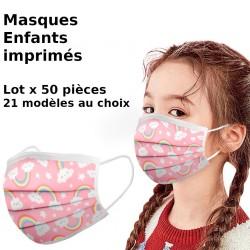 Livraison rapide 10/20/50/100PC enfants écharpe masque Mascarilla 2020 enfants jetable impression masque industriel 3Ply boucle