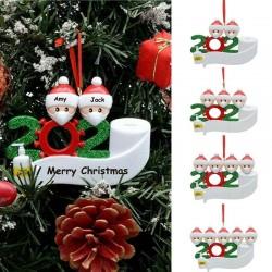 Santa Claus decoration hanging anti covid 19