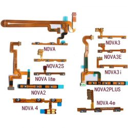 Power & Volume Button Flex Cable For Huawei Nova Young 2 2i 2S 3 3e 3i 4 4e Lite Plus 2017 On Off Up And Down Flex Ribbon Parts
