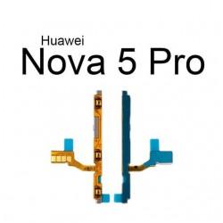 On Off Power & Volume Button Flex Cable For Huawei Nova 5 5i Pro Nova 5Z 5T Power Volume Switch Control Flex Ribbon Repair Parts