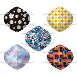 50Pcs 4 layers KN95 Mouth Face Mask Customized Disposable Breathable Masks Special Flower Starry Personalized Printed Mask