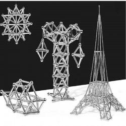 magnetic construction set magnetic sticks and metal balls