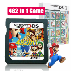 Mario Album Video Game Card 482 In 1 Cartridge Console Card For NDS NDSL 2DS 3DS 3DSLL NDSI
