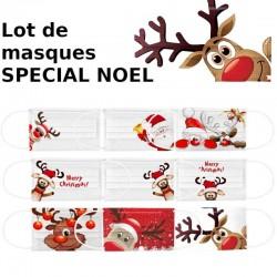 50pc noël imprimé masques jetable respirant multi-usages visage couverture masque bouche visage masque de Protection Multiple