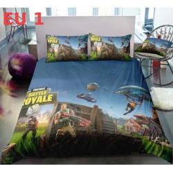 3pcs/set Fortnite Bed Linen Cotton Euro Bedding Set Bedroom Comforter Sheets Quilt Duvet Cover Home Anime Pillow Case King Size