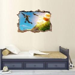 Jeu 3D autocollant mural Fortnite autocollant mural chambre salon décoration murale forteresse nuit affiche Stickers muraux pour