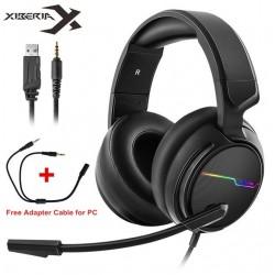 Original Xiberia V20 casque de jeu pour PS4 nouvelle xbox One avec USB + 3.5 MM/USB 7.1 jeu casque PC Gamer casque micro Led lum
