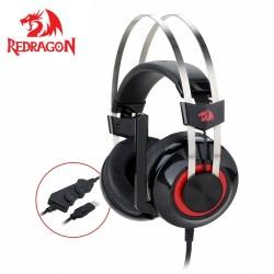 Redragon H601 7.1 canal Surround stéréo casque de jeu sur l'oreille casque micro Vibration individuelle suppression de bruit lum