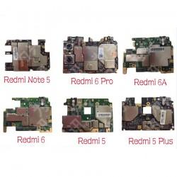 Carte mère de déverrouillage d'origine pour Xiaomi Redmi Note 5 / Redmi 6 Pro Redmi 5 Hongmi 5plus carte mère frais chipsets câb